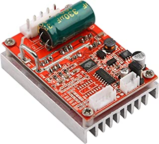 DC Brushless Motor Controller, Yeeco DC 6-72V 450W Brushless DC Motor Speed Regulator Control Module 12V 24V High Power BLDC Speed Motor Controller Driver Board with Heat Sink