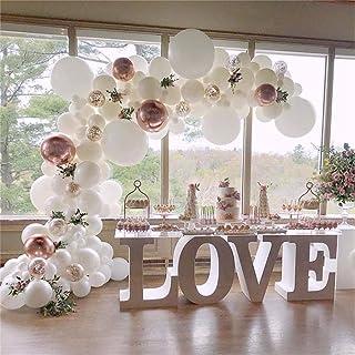 113pcs White Balloon Garland Kit Rose Gold Balloon Arch Wedding Deco Bridal Shower Baby Birthday Party Decoration