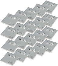 4PCS Square Gefederte Spiegelhalterklammern Set Spiegelbefestigungsklammern mit Schrauben Werkzeuge Spiegelklammern Set