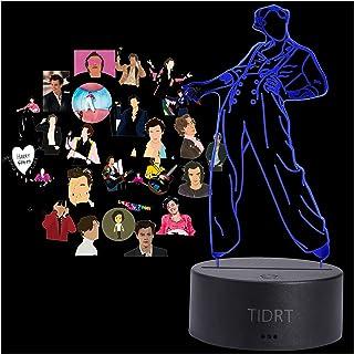 Anime 3d Led Night Light Harry Styles Fan Decorazione Camera Da Letto Per Bambini Fantasia Lanterna Cambia Colore Lampada ...