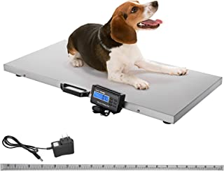 Happybuy 1100Lbs x 0.2Lbs Digital Livestock Scale Large Pet Vet Scale Stainless Steel Platform Electronic Postal Shipping Scale Heavy Duty Large Dog Hog Sheep Goat Pig Sheep Scale