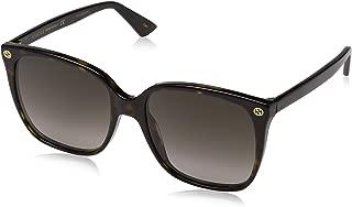 Women Design Sunglasses GG0022S 003 Havana Brown Gold...