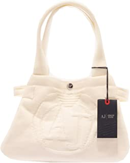 2693S borsa donna ARMANI JEANS tessuto bianco borsa a mano hand bag woman