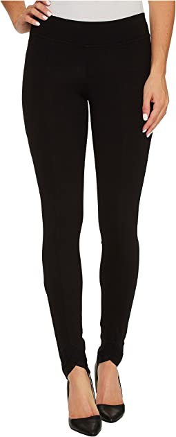 HUE - Mesh Trim Cotton Leggings