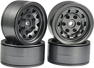 RCLIONS 1.9inch Aluminum Alloy Wheel Rim Hub for 1/10 Scale RC Crawler Car SCX10 D90-Pack of 4pcs (Gray)