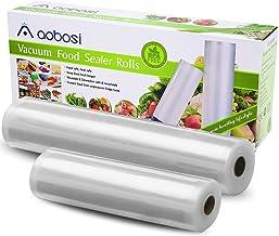 Aobosi Vacuümrollen Vacuümfolie rol voor alle folielassistenten, 2 rollen 28 x 600 cm & 20 x 600 cm Premium kwaliteit foli...