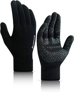 HONYAR Guantes de invierno para pantalla táctil para hombre y mujer, forro cálido y suave, agarre antideslizante, puño elá...