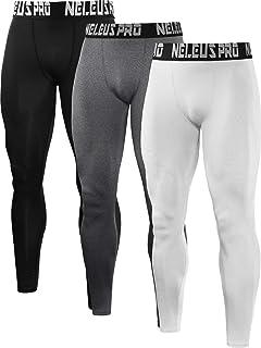 9ee546d96d Neleus Men's 2 Pack Compression Tights Sport Running Leggings Pants