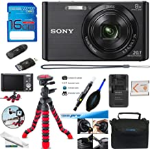 Sony DSC-W830 Digital Camera (Black) - Deal-Expo Essential Accessories Bundle