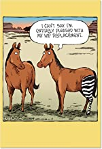 Horse Hip Replacement - Hilarious Get Well Soon Card with Envelope (4.63 x 6.75 Inch) - Adorable Brown Horse Feel Better Note Card - Funny Animal Thinking of You Card for Men, Women C1770GWG