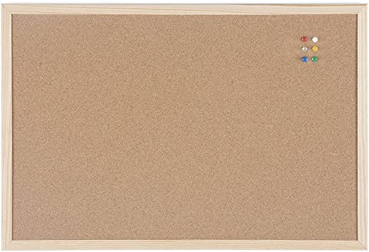Bi-Office Korktafel / Pinnwand mit Holzrahmen- 5 Größen wählbar – 60 x 40 cm