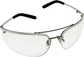 3M Metaliks Protective Eyewear, 15170-10000-20 Clear Anti-Fog Lens, Polished Metal Frame  (Pack of 1)
