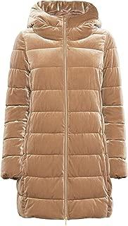 GEOX Women's Felyxa Quilted Long Jacket Brown
