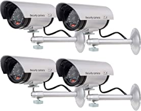 WALI Bullet Dummy Fake Surveillance Security CCTV Dome Camera Indoor Outdoor with one LED..