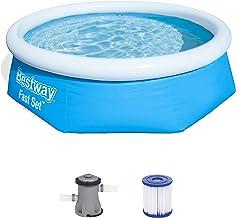 Bestway Fast Pool Set 244x66 cm, mit Filterpumpe Piscina (244 x 66 cm, con Bomba de Filtro), Azul