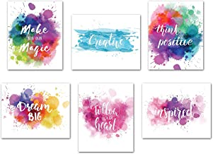 Inspirational Poster Motivational Wall Art - Creative Quotes for Home Office Watercolor Canvas Print Artwork Bedroom Decor...