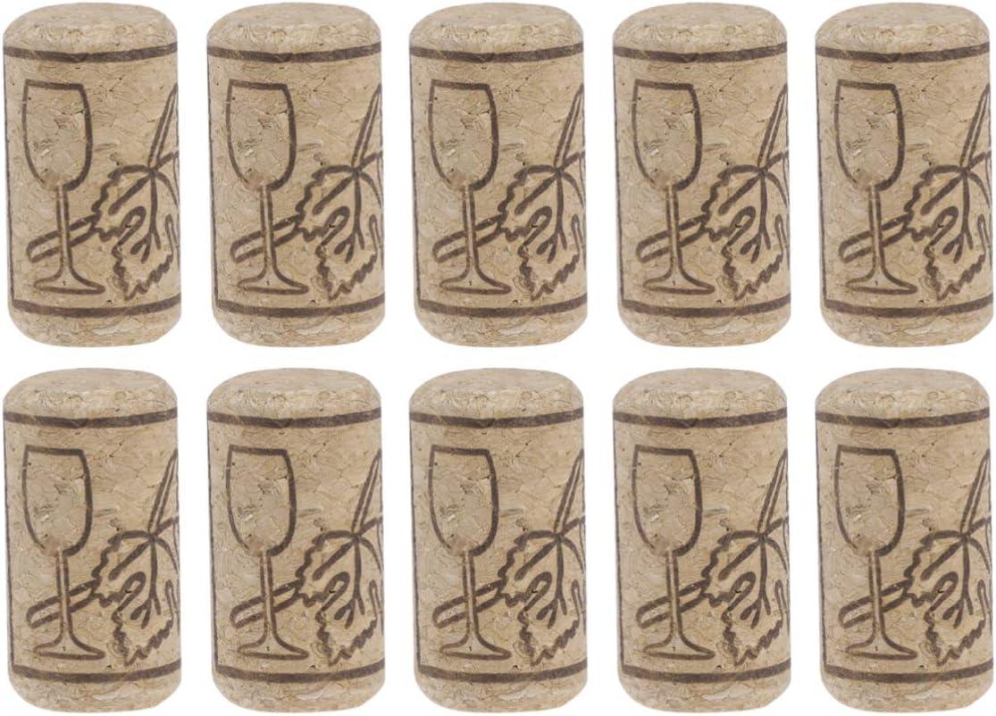 ifundom Corchos de vino, 100 piezas premium de corcho natural, tapón de corcho natural, corchos de vino de madera suave, corcho de repuesto para vino y cerveza, 21 x 40 mm