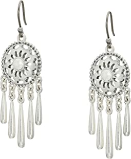Openwork Pearl Fringe Drop Earrings