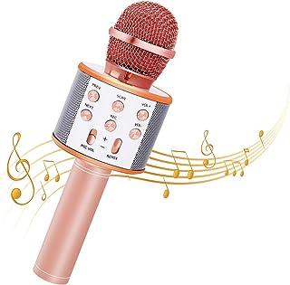 Bearbro Micrófono Inalámbrico Bluetooth,Micrófono Karaoke Bluetooth Portátil con Función Selfie para Niños Canta Partido M...