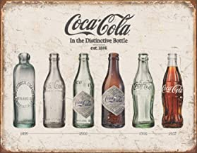 Desperate Enterprises Coca-Cola Bottle Evolution Tin Sign, 16