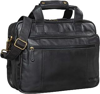 """STILORD Experience"""" Vintage Lehrertasche Leder groß für Herren Damen XL Aktentasche Business Schulter- oder Umhängetasche für Laptop Trolley aufsteckbar"""