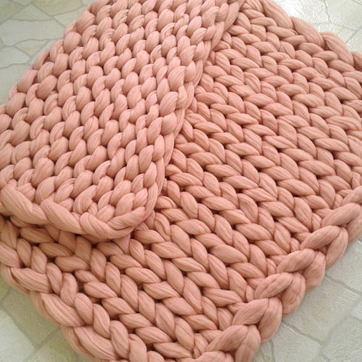 Premium Wool Blanket Super Chunky Knit Blanket Thick Yarn Blanket Giant Throw Arm Knitting Pet Bed Mat Baby Blanket Home Decor Christmas Gift 39 x79