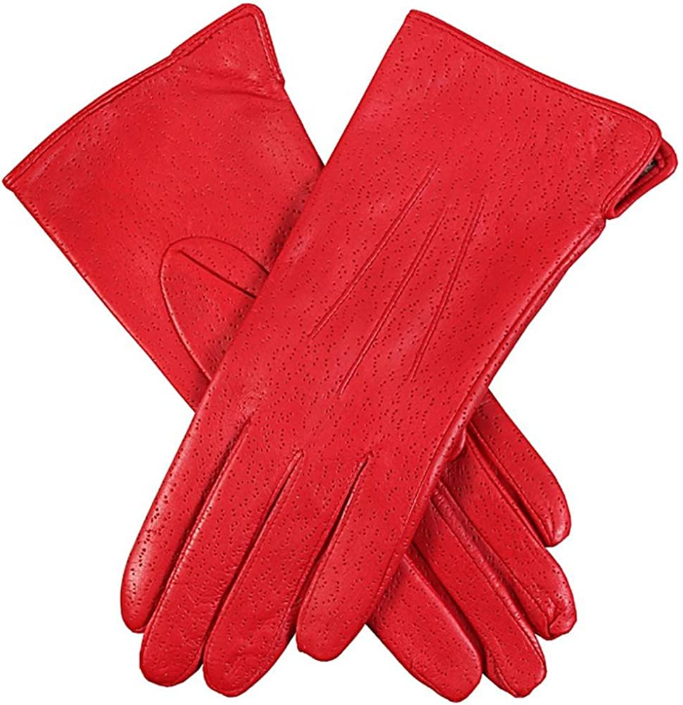 Dents Womens Jessica Classic Imipec Leather Gloves - Berry