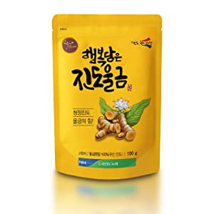Jindo Tumeric Powder [ Korean Pantry ] Special Ground Korea Spice Blend for Tea and Seasonings, Easy Herb to Eat or Drink, Great Source of Antioxidants [ JRND Foods ] 100 Grams