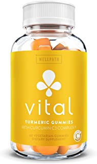 Vital Turmeric Gummies with Curcumin C3 Complex - First Gummy with Curcumin C3 - Turmeric Curcumin with Ginger for Joint a...