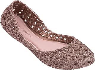 + Melissa Luxury Shoes x Campana Crochet Flat Pink Glitter 6 UK (US Women's 8)