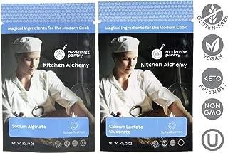 Sodium Alginate + Calcium Lactate Gluconate Value Pack ⊘ Non-GMO ☮ Vegan ✡ OU Kosher Certified - 100g/4oz (Bundle with 2 items)
