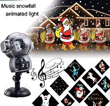 Snow Falling Animated Light Christmas Snowfall Proyector LED - 8 Efectos de animación/Reproductor de música/Fairy Snowfall Effect/Remote Control