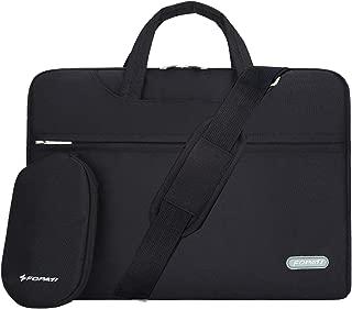 YOUPECK Water Repellent 14-15 Inch Laptop Shoulder Bag Compatible MacBook Pro 15.4, Ultrabook Chromebook 14, Polyester Protective Messenger Briefcase Men Women Carrying Handbag Sleeve Case, Black