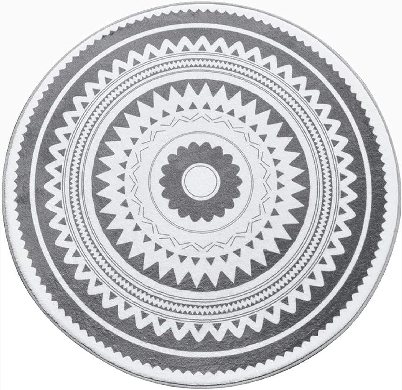 ahorrar en el despacho Alfombra, gris gris gris blancoo Geometría Dormitorio Colgando Cesta Guardarropa Alfombra rojoonda (Color   B, Talla   Diameter 100cm)  el más barato