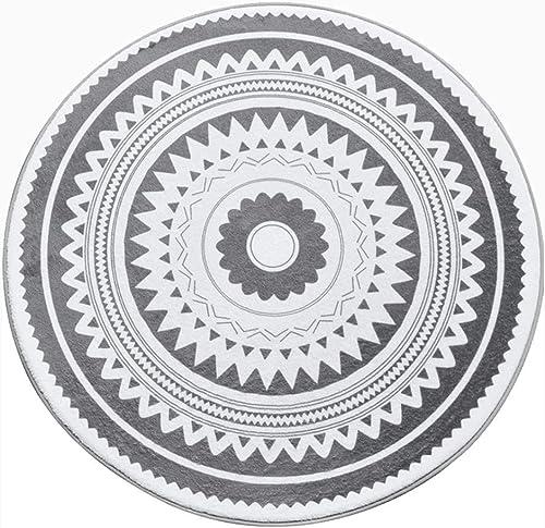 excelentes precios Alfombra, Alfombra, Alfombra, gris blanco Geometría Dormitorio Colgando Cesta Guardarropa Alfombra rojoonda (Color   F, Talla   Diameter 60cm)  descuento de ventas