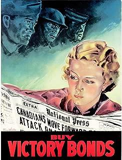 Wee Blue Coo Propaganda War WWI Canada Victory Bonds S Soldier Sailor Unframed Wall Art Print Poster Home Decor Premium