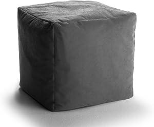 VALERIAN Sitzwürfel Mikrofaser 40x40 cm anthrazit