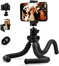 Flexible Tripod, Tripod for iPhone with Remote, Camera Trípode, Vertical Horizantal Ball Head for Selfie Vlog, Phone Tripo...