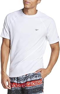 Men's UV Swim Shirt Short Sleeve Regular Fit Solid