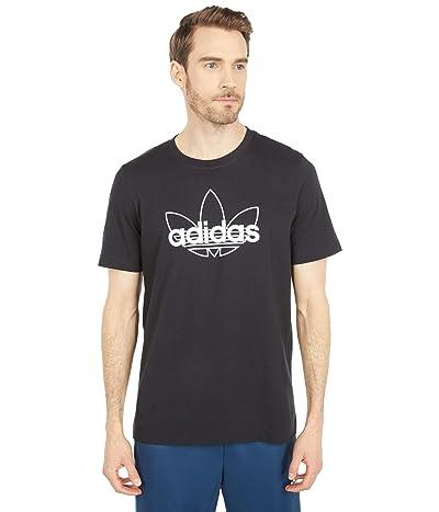 adidas Originals Sport Foundation Graphic Tee (Black/White) Men