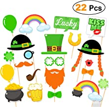 St. Patrick's Day Photo Booth Props 22pcs- Shamrock Irish Party Supplies Decorations