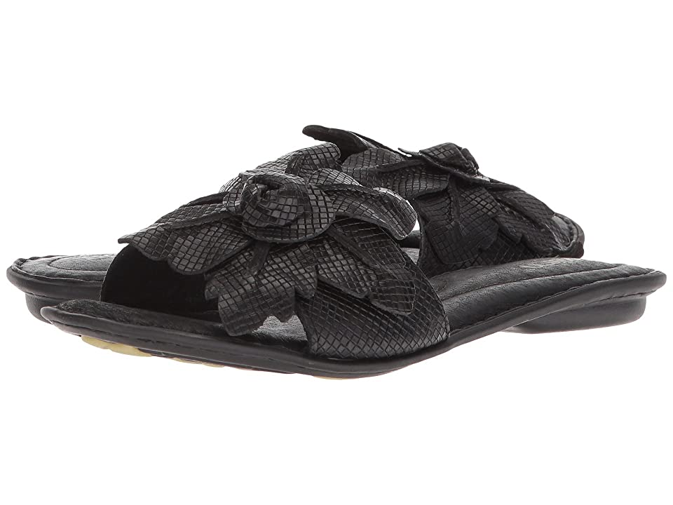 Born Mai Floral (Black Embossed Full Grain Leather) Women
