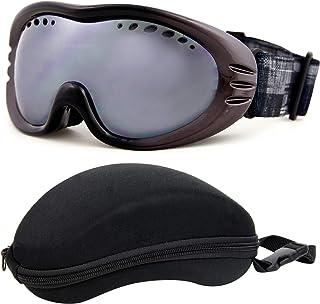 VAXPOT(バックスポット) スノーボード スキー ゴーグル メガネ対応 ハードケース付き メンズ レディース兼用 【ミラーレンズ ダブルレンズ UVカット くもり止め】 VA-3610