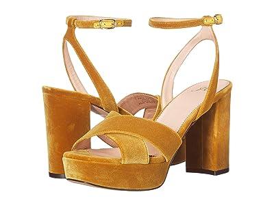 J.Crew Cross Strap Platform Sandal (Gilded Amber) Women