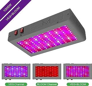 MORSEN 1000w Led Grow Light Full Spectrum Double Chips for Hydroponic Indoor Plants Veg and Flower