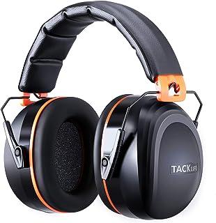 Tacklife - Modelo HNRE1 - Auriculares antiruido, para reducción del ruido / SNR 34dB / protección auditiva / certificación CE / ajustables, flexibles y cómodos / indicados para ambientes industriales