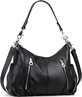 Heshe Women's Leather Shoulder Handbags Cross Body Bags Hobo Totes Top Handle Bag Satchel and Purse for Ladies