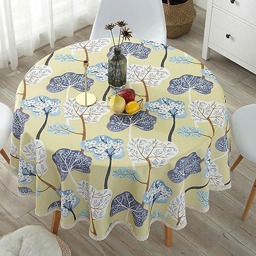 Tablecloth Tischdecke im EuropäischenStil aus Stoff Tisch- und Tischdecke aus Wasser- und ölBesteändigem, leicht zu reinigendem Baumwoll- und Leinenstoff (Farbe   C, Größe   220cm)