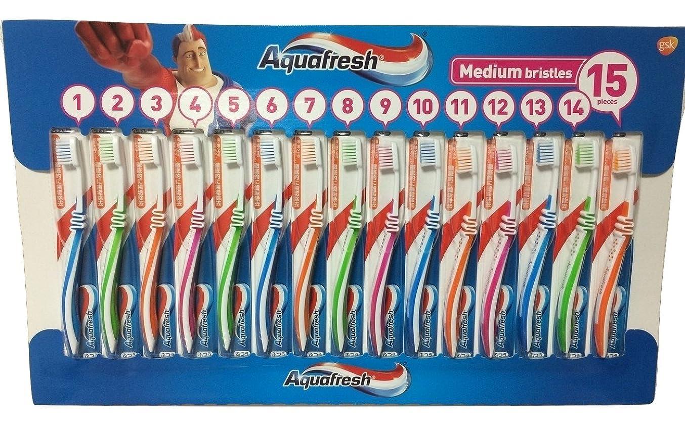 最後にインキュバスタオルアクアフレッシュ Aquafresh ハブラシ 15本