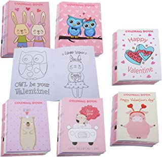 Valentine's Day Coloring Books Party Favors for Kids - Valentine School Class Goodie Bag Stuffer Filler Prize Activity Sup...